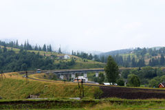 Железная дорога к горе Стоковые Изображения
