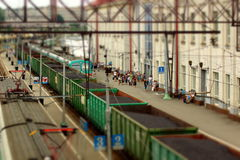 Железная дорога миниатюры Стоковые Изображения RF