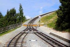 Железная дорога на горах Стоковое Фото