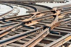 Железная дорога на конструкции с гравием Стоковые Фотографии RF
