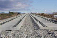 Железная дорога на конструкции Стоковые Фотографии RF