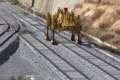 Железная дорога на конструкции Стоковое Изображение