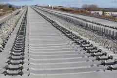 Железная дорога на конструкции Стоковое Изображение RF