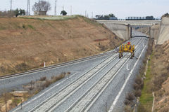 Железная дорога на конструкции Стоковые Изображения