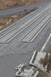 Железная дорога на конструкции Стоковые Изображения RF