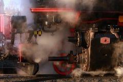 Железная дорога пара - choo-choo, Саксония, Германия стоковое изображение rf