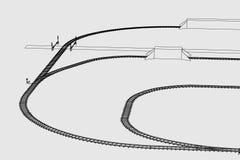 Железная дорога (переход) Стоковое Изображение
