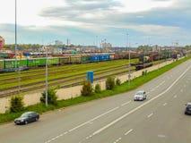 Железная дорога Петербурга Стоковое Изображение