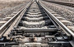 Железная дорога Пути пойти к горизонту Стоковые Фотографии RF