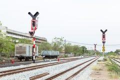 Железная дорога светофора Стоковые Изображения RF