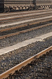Железная дорога с фурой перевозки Стоковое фото RF
