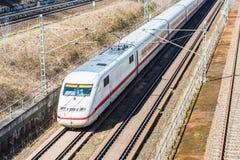 Железная дорога с moving поездом Стоковая Фотография RF