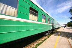 Железная дорога Транс-сибиряка от фарфора Пекина к ulaanbaatar Монголии стоковое фото rf