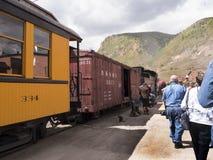 Железная дорога узкой колеи от Дуранга к Silverton в Колорадо США Стоковые Изображения