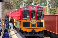 Железная дорога Sagano сценарная Стоковые Фотографии RF