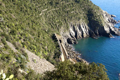 Железная дорога Vernazza, Cinque Terre Стоковые Изображения