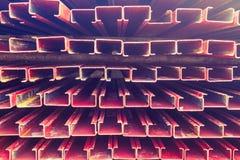 Железная плита, текстура утюга листа или скелетное для строя grandst Стоковое фото RF