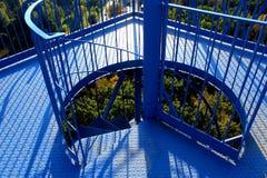 Железная спиральная лестница башни бдительности Стоковые Фотографии RF