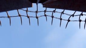 Железная стена Стоковое Изображение