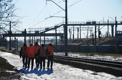 Железнодорожная команда работников Стоковые Изображения RF