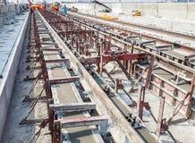Железнодорожная конструкция Стоковые Изображения