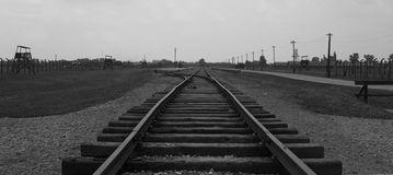 Железнодорожная дорога в Birkenau Стоковое фото RF