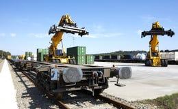 Железнодорожная платформа Стоковые Фотографии RF