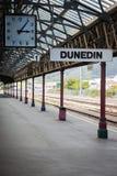 Железнодорожная станция в Данидине, Новой Зеландии Стоковая Фотография