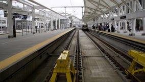 Железнодорожная станция света Денвера стоковые фото