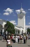 Железнодорожная станция Симферополя Стоковые Фото