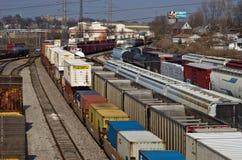 Железнодорожная станция Стоковое Фото