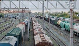 Железнодорожная станция Стоковые Изображения