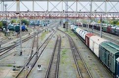 Железнодорожная станция Стоковое Изображение