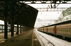 Железнодорожная станция Стоковые Фотографии RF