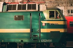 Железнодорожная станция Стоковое Изображение RF