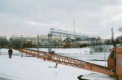 Железнодорожная станция Стоковая Фотография