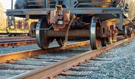 Железнодорожная сцена с поездом груза Стоковое Изображение