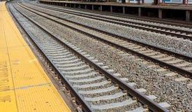 Железнодорожная сцена с поездом груза Стоковое фото RF