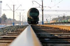 Железнодорожная фура стоковое фото rf