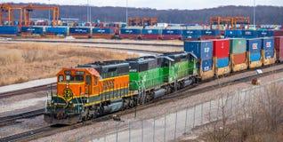 Железнодорожное связанное с использованием различных видов транспорта Стоковые Фото
