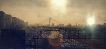 Железнодорожное солнце Стоковое Изображение RF