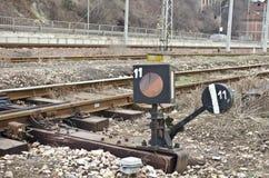 Железнодорожное lightbox сигнала Стоковая Фотография