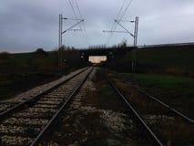 Железнодорожное upclose Стоковые Изображения RF