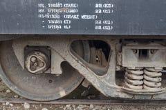 Железнодорожные колеса Стоковые Изображения