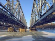 Железнодорожные мосты над рекой Hoper Стоковые Изображения RF