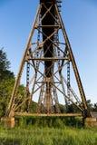 Железнодорожные поддержки моста Стоковое фото RF