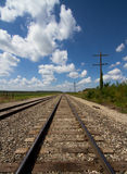 Железнодорожные пути & линии телеграфа Стоковая Фотография RF
