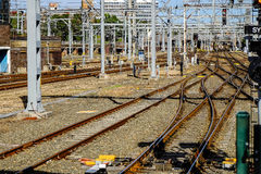 Железнодорожные пути и сетевая инфраструктура Стоковая Фотография RF