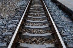 Железнодорожные пути на Таиланде Стоковые Изображения RF