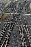 Железнодорожные пути с переключателями Стоковая Фотография RF